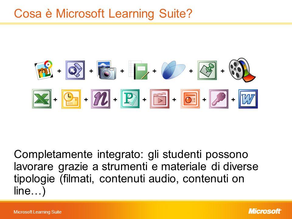 Microsoft Learning Suite Cosa è Microsoft Learning Suite? Completamente integrato: gli studenti possono lavorare grazie a strumenti e materiale di div