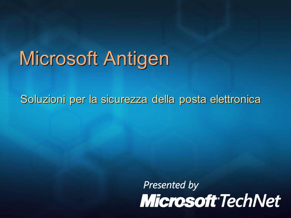 Soluzioni per la sicurezza della posta elettronica Microsoft Antigen