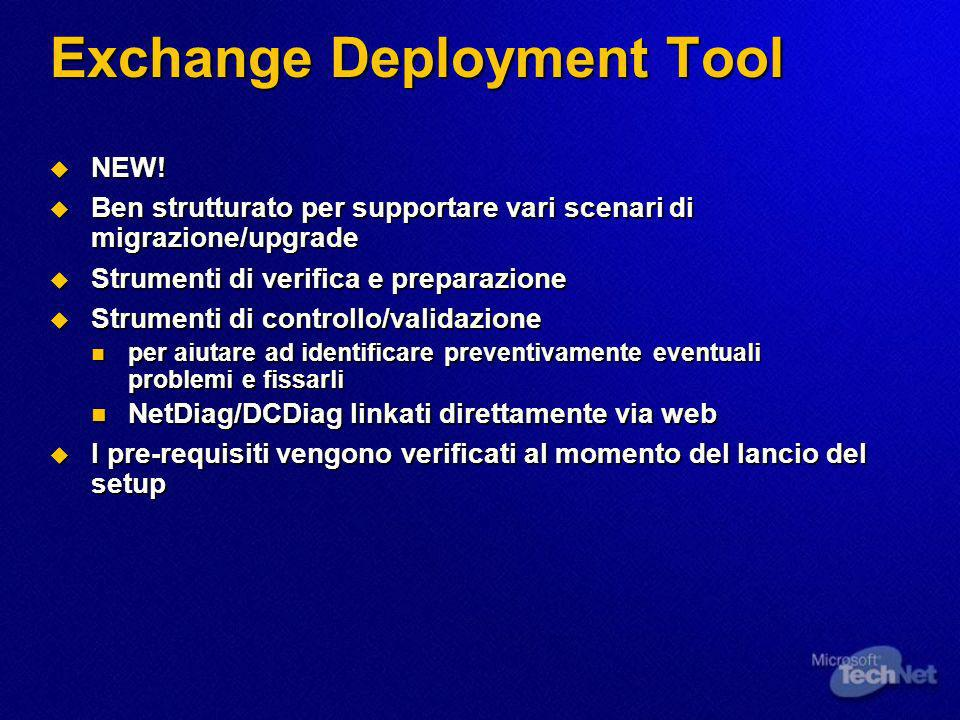 Exchange Deployment Tool NEW. NEW.