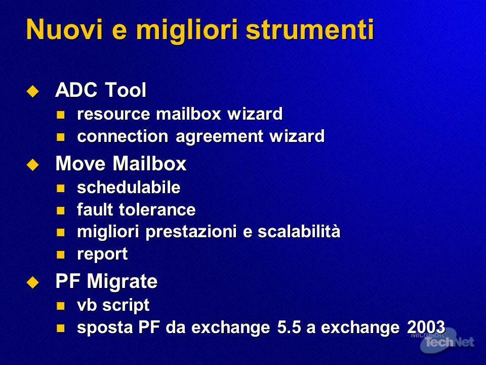Nuovi e migliori strumenti ADC Tool ADC Tool resource mailbox wizard resource mailbox wizard connection agreement wizard connection agreement wizard M