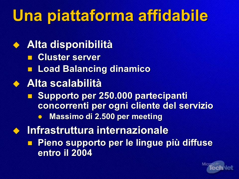 Una sicurezza a 9 livelli Dati Screening Routers Firewalls Intrusion Detection Systems Systems Level Security Application Authentication Application Level Counter-Measures Separate Data Networks Authentication To Data Authentication To Data Encrypted Data