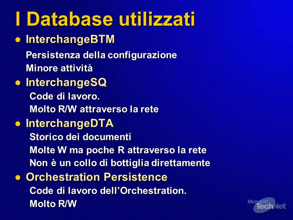 Architettura BizTalkServerGroup Applicazioni (e.s., Baan, CommerceServer) BizTalk Messaging Desk WebDAVRepository BTMDatabase SQDatabase System Admin (MMC Snapin) Applicazioni (e.s., SAP, CommerceServer) DTA Analysis (Browser UI) OrchestrationDatabase
