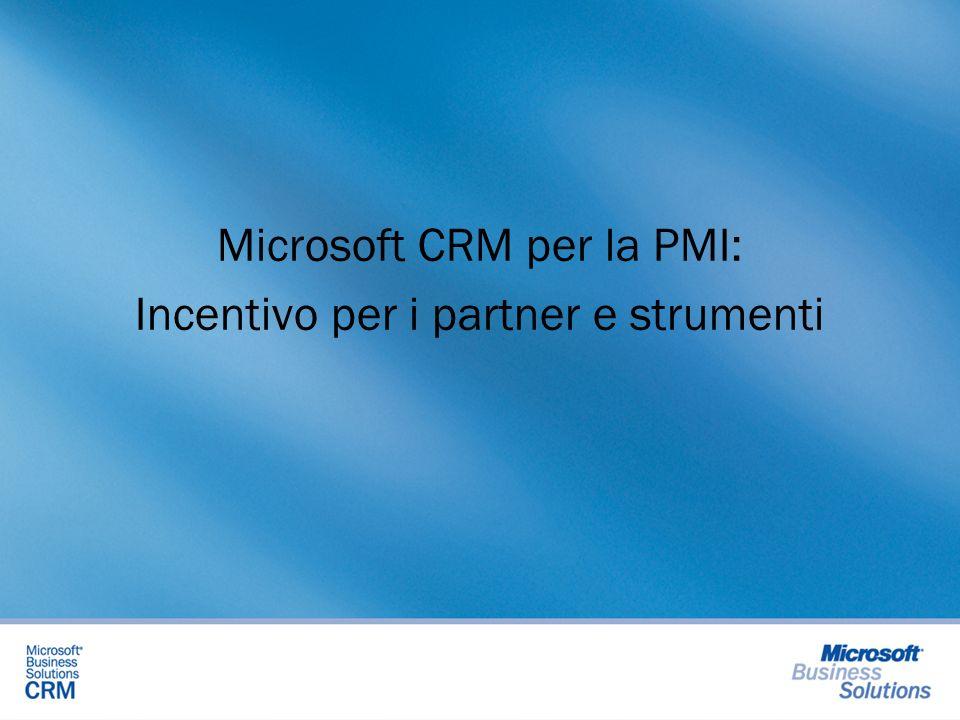 Microsoft CRM per la PMI: Incentivo per i partner e strumenti