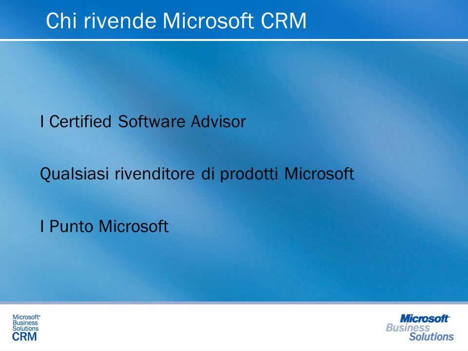 Chi rivende Microsoft CRM I Certified Software Advisor Qualsiasi rivenditore di prodotti Microsoft I Punto Microsoft
