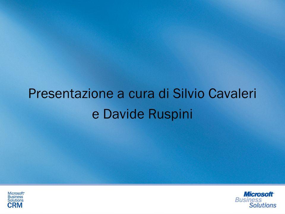 Presentazione a cura di Silvio Cavaleri e Davide Ruspini