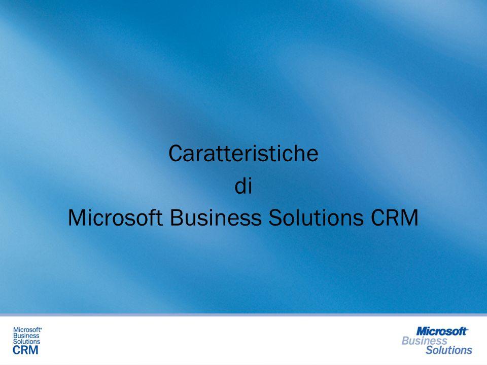 Caratteristiche di Microsoft Business Solutions CRM