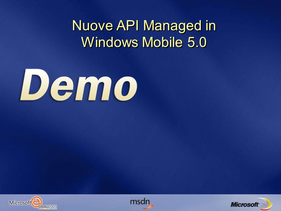 Nuove API Managed in Windows Mobile 5.0