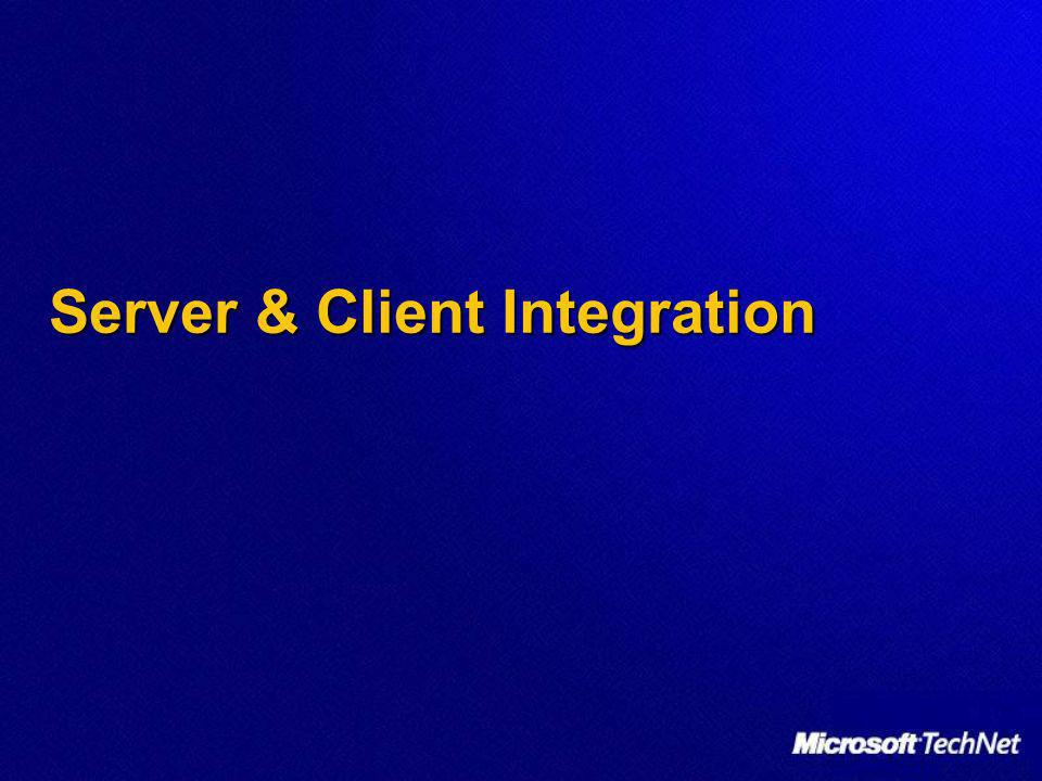 Server & Client Integration