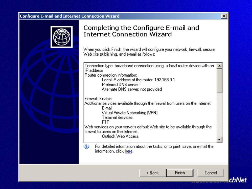 Exchange in SBS Exchange in SBS configurazione base configurazione base configurazione SMTP Virtual Server configurazione SMTP Virtual Server