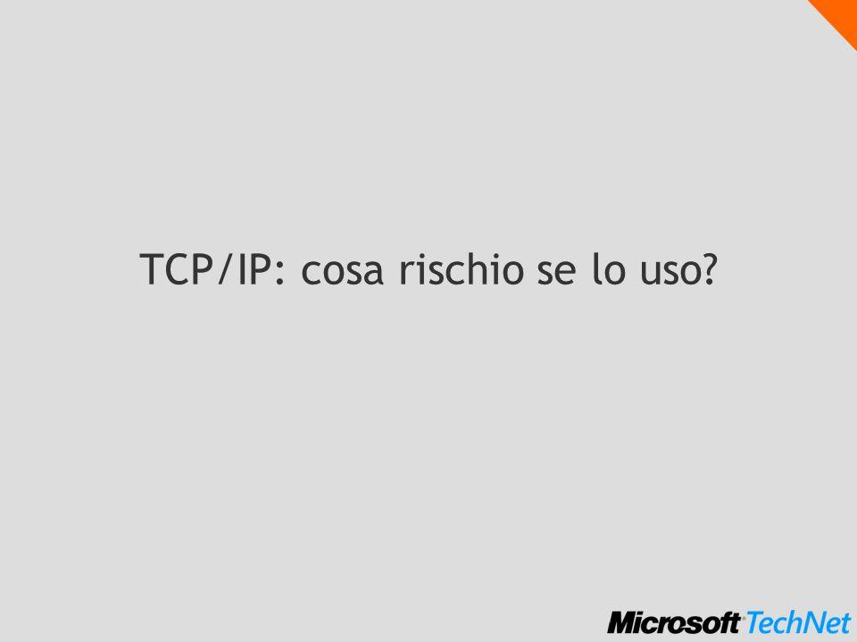 ICMP echo typechecksum optional data (lunghezza variabile) 08162431 type: 8 = request 0 = reply code: 0 identifier, sequence number: per far corrispondere risposte e richieste data: ritornati allo speditore code identifiersequence number