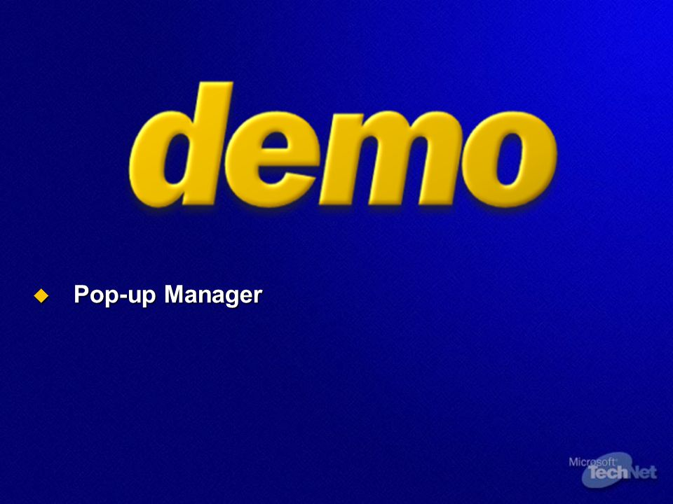 Pop-up Manager Pop-up Manager