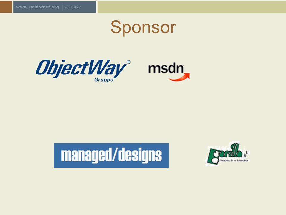 www.ugidotnet.org workshop Scenario tipo Sviluppatore java implementa una soluzione Crea un web service Java Referenzia il progetto.NET al WSDL Crea il client.NET ERRORE !.