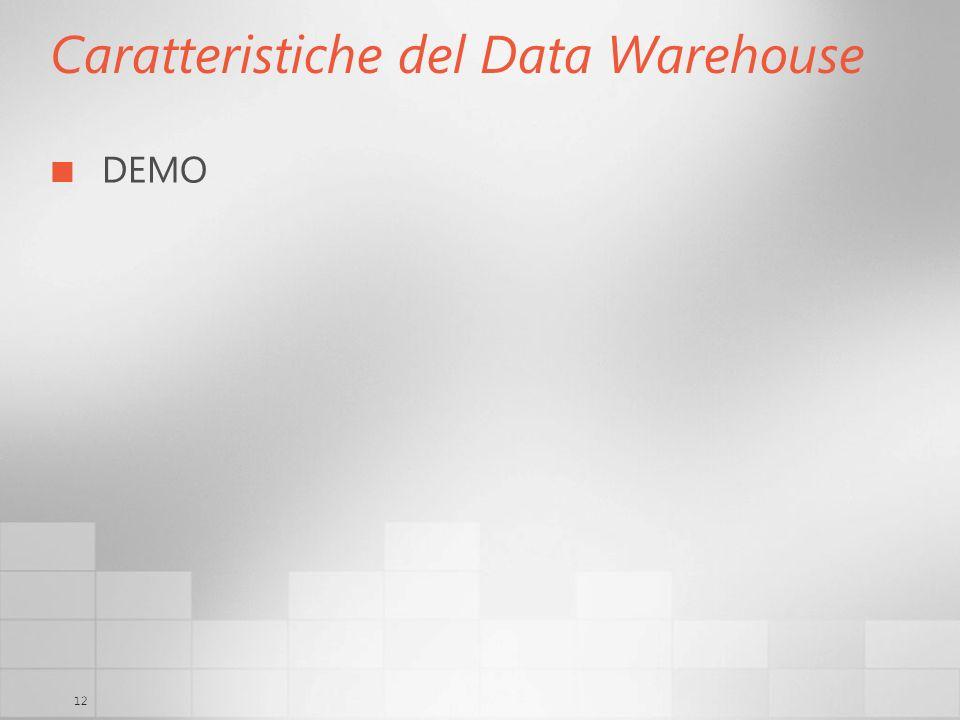 12 Caratteristiche del Data Warehouse DEMO
