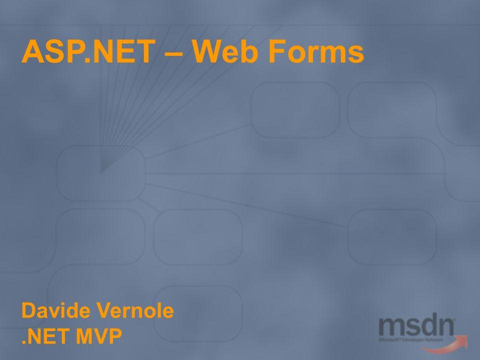 ASP.NET – Web Forms Davide Vernole.NET MVP