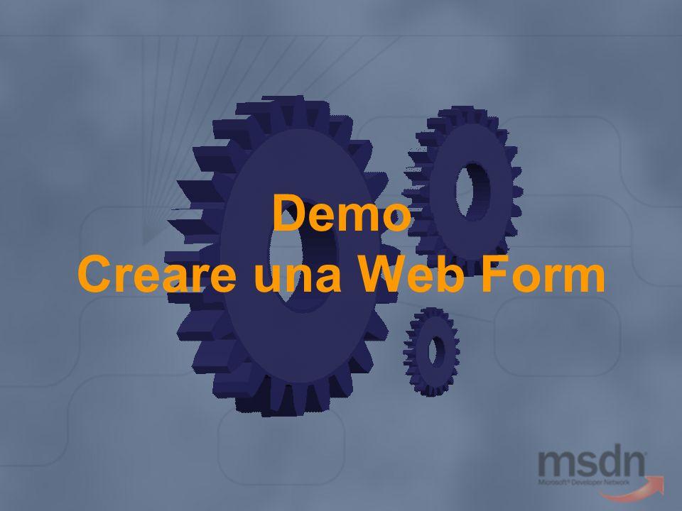 Demo Creare una Web Form