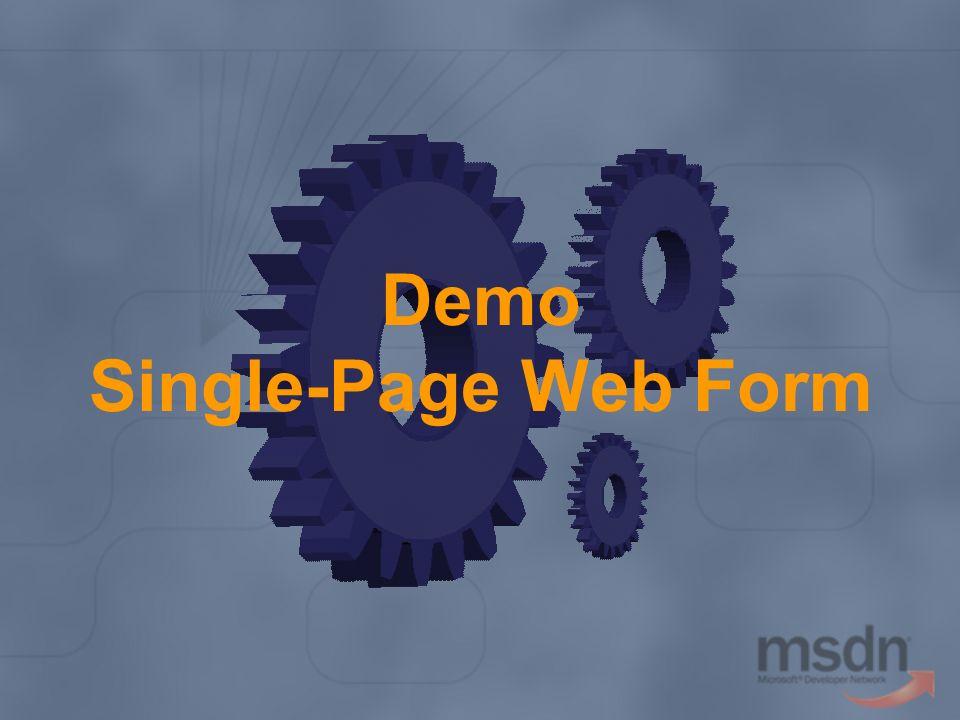 Demo Single-Page Web Form