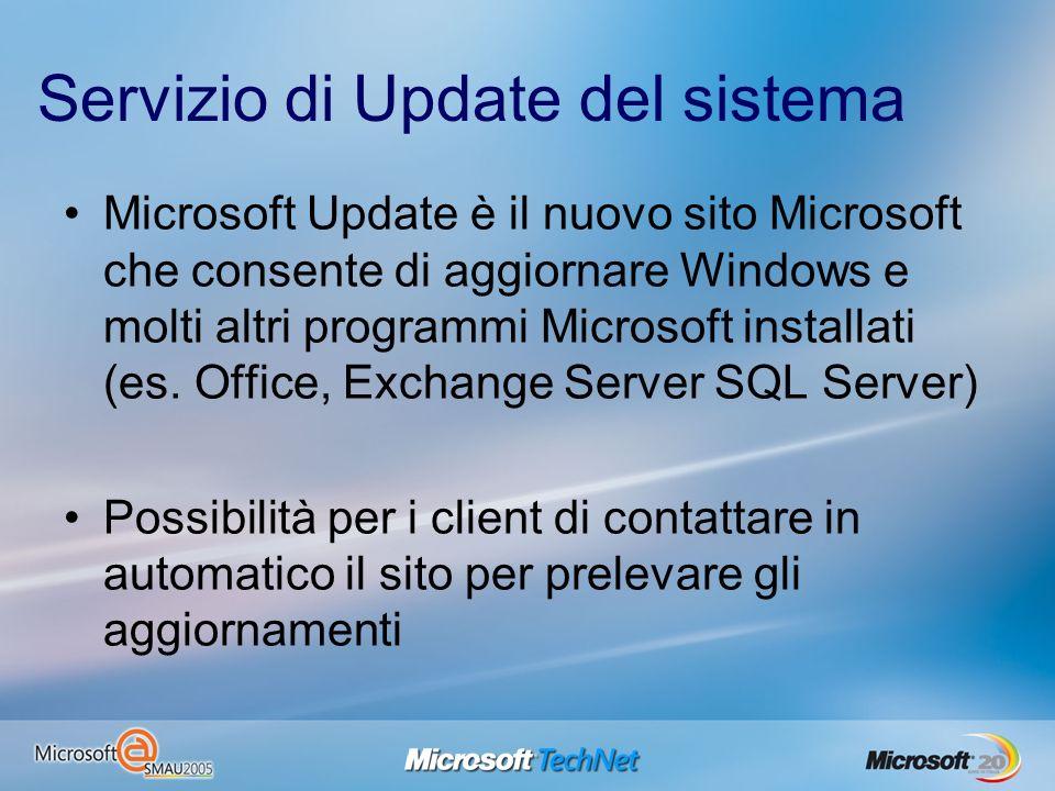 Servizio di Update del sistema Microsoft Update è il nuovo sito Microsoft che consente di aggiornare Windows e molti altri programmi Microsoft install