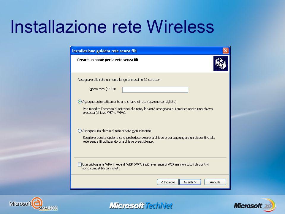 Installazione rete Wireless