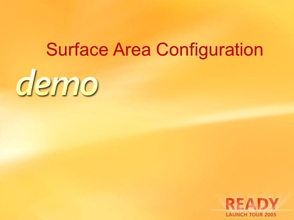 Surface Area Configuration