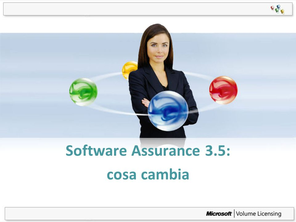 Page 1 Software Assurance 3.5: cosa cambia