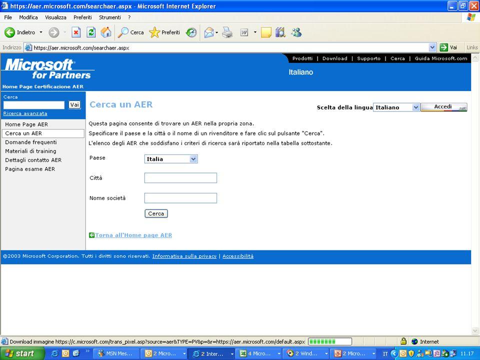 Referencing su: homepage Microsoft Italia Microsoft Education Benefici: visibilità