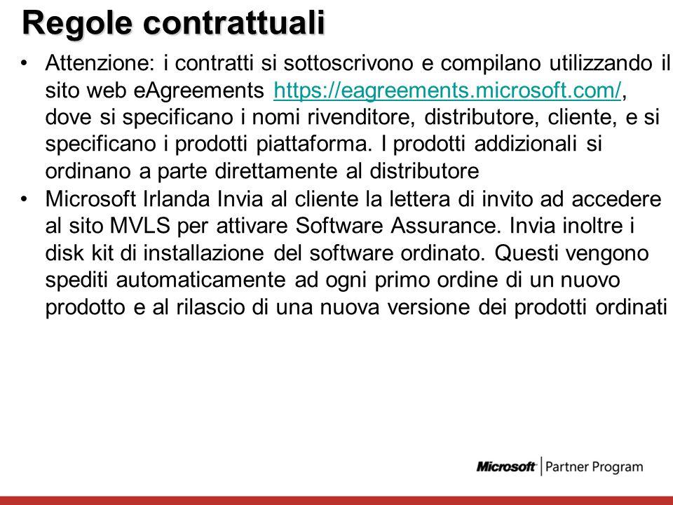 Regole contrattuali Attenzione: i contratti si sottoscrivono e compilano utilizzando il sito web eAgreements https://eagreements.microsoft.com/, dove