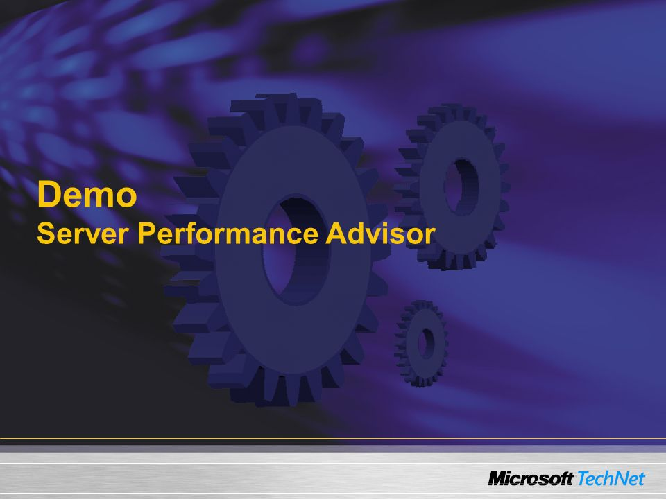 Demo Server Performance Advisor