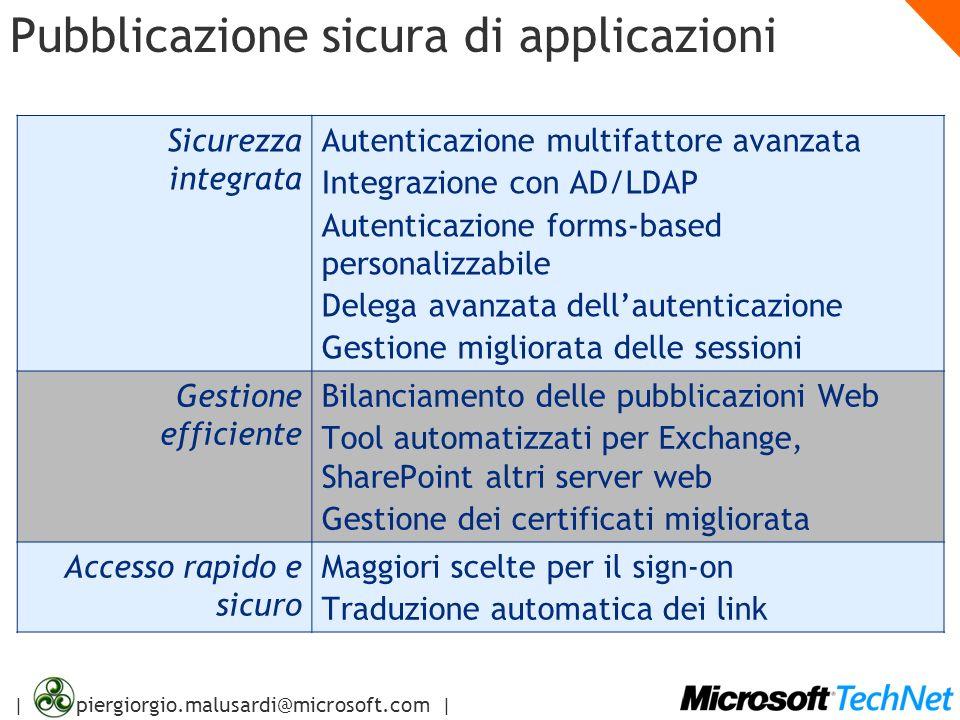 | piergiorgio.malusardi@microsoft.com | Metodi di autenticazione Front-endHTTPBasic Digest Negoziazione Client SSL Ignore Accept Chiede certificato.