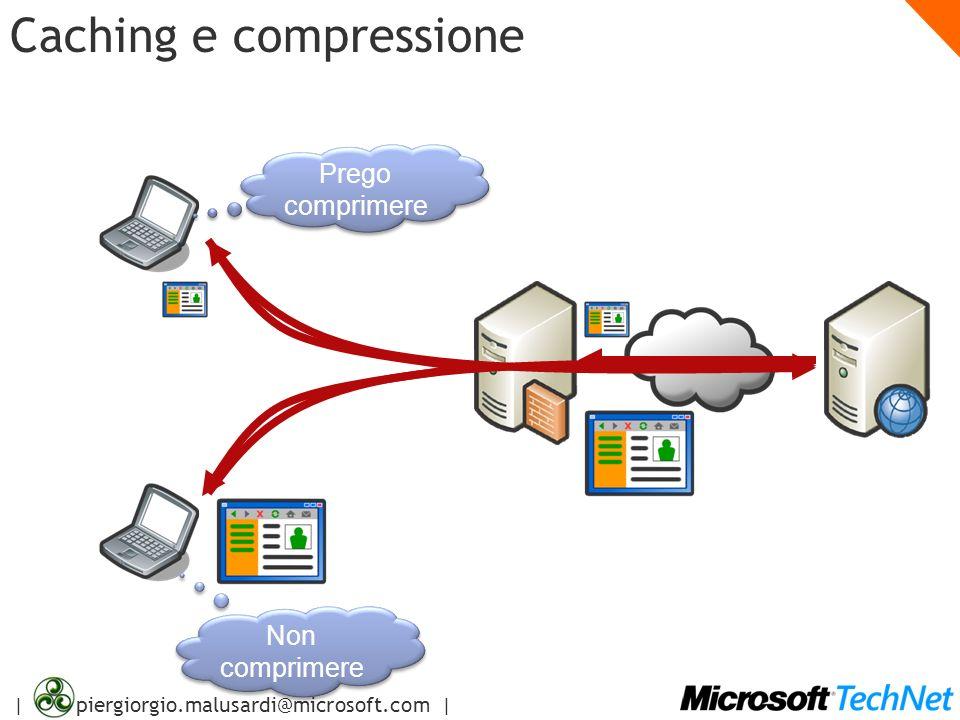 | piergiorgio.malusardi@microsoft.com | Caching e compressione Prego comprimere Prego comprimere Non comprimere Non comprimere