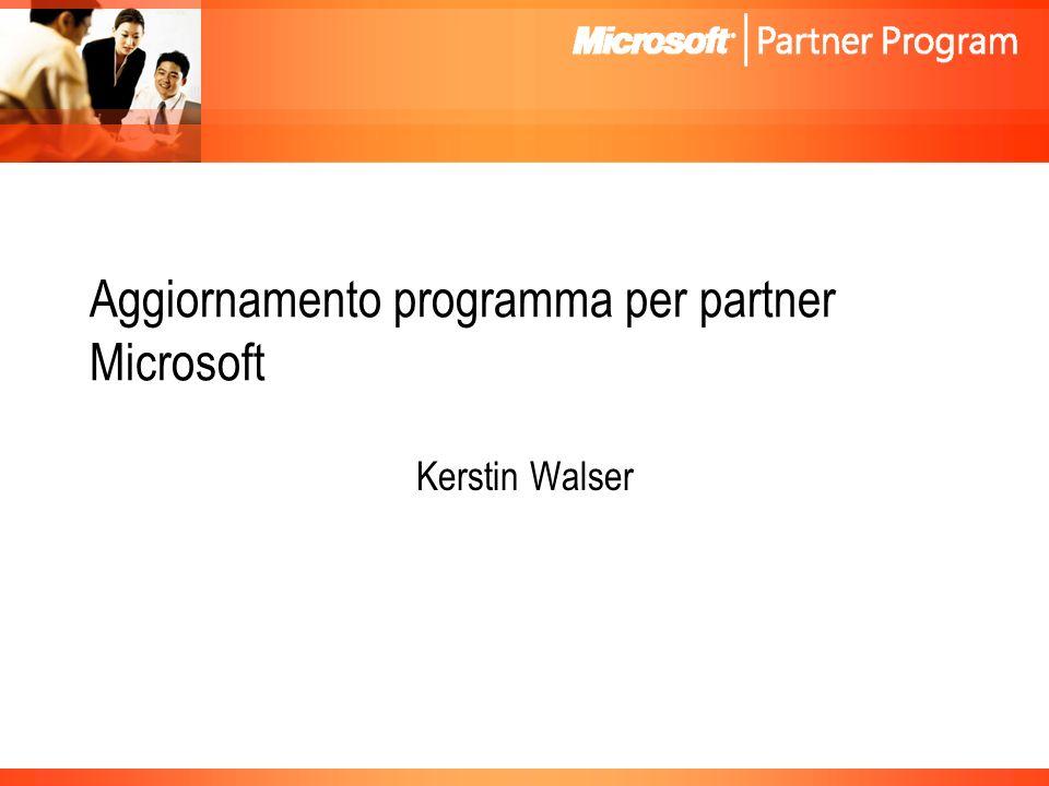 Aggiornamento programma per partner Microsoft Kerstin Walser