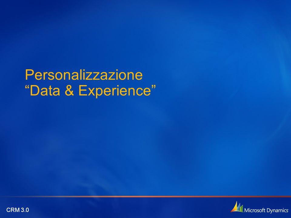 CRM 3.0 Personalizzazione Data & Experience