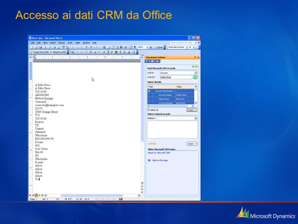 Accesso ai dati CRM da Office
