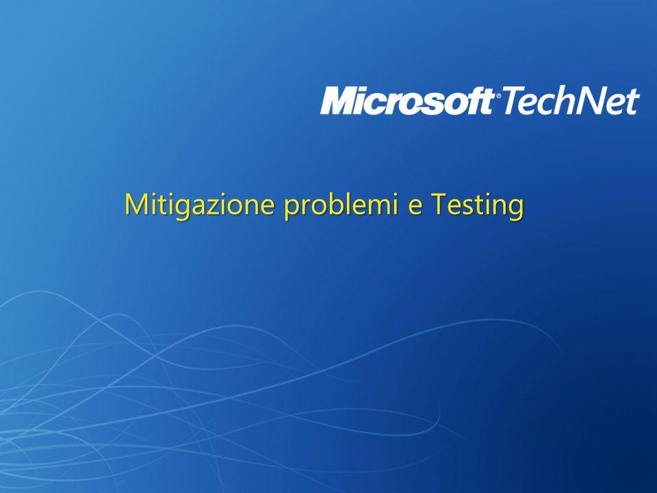 Mitigazione problemi e Testing