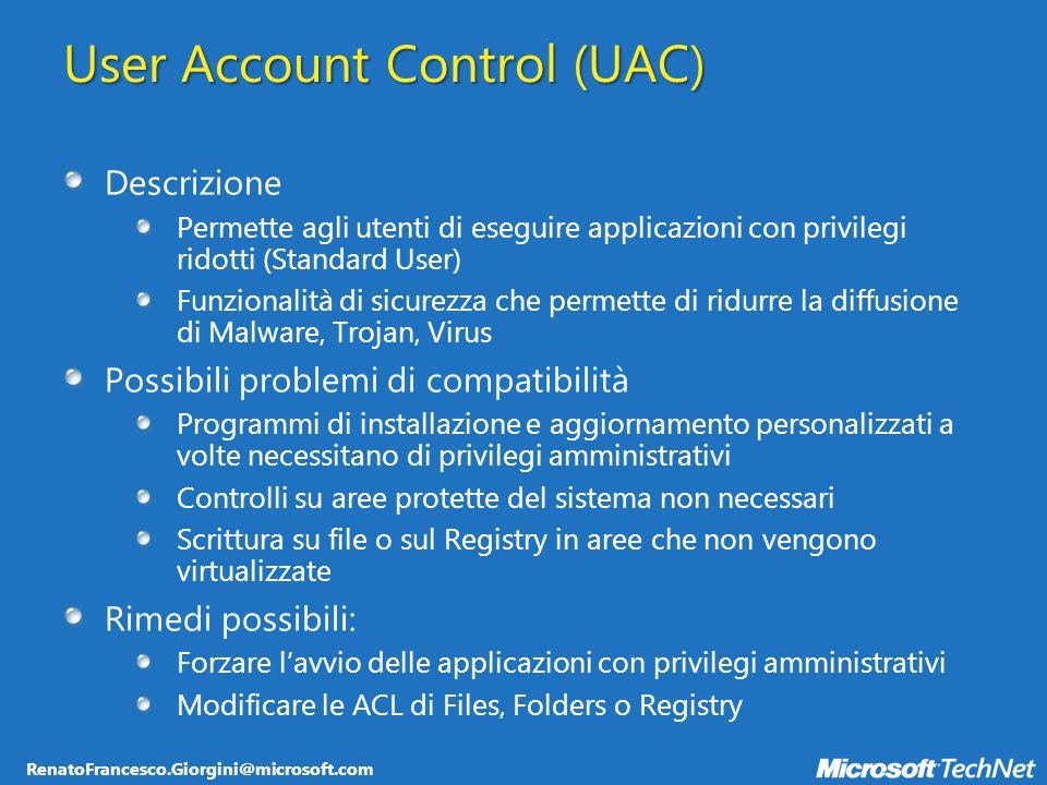 RenatoFrancesco.Giorgini@microsoft.com Deployment dei package System Management Server Group Policy di Active Directory Installazione manuale da share di rete