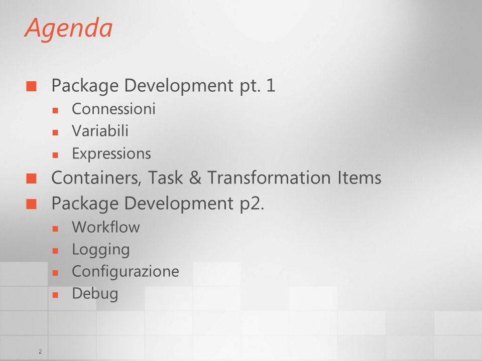 2 Agenda Package Development pt.