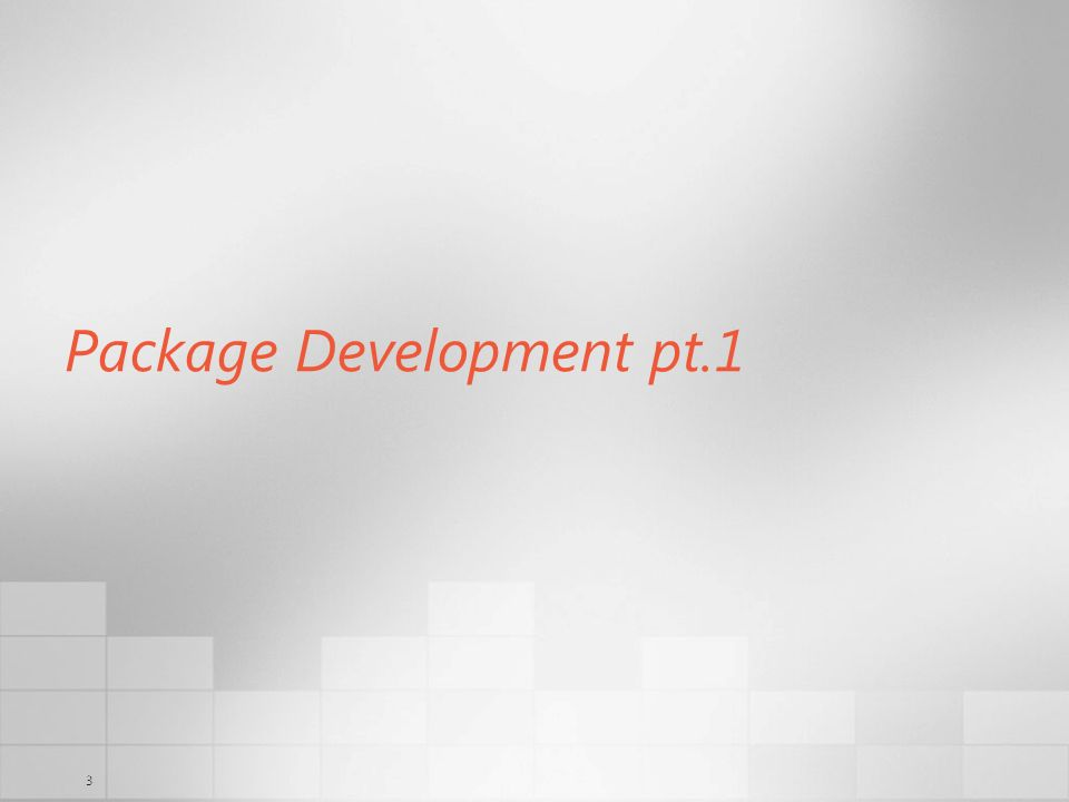 3 Package Development pt.1