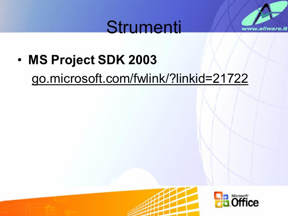 Strumenti MS Project SDK 2003 go.microsoft.com/fwlink/?linkid=21722
