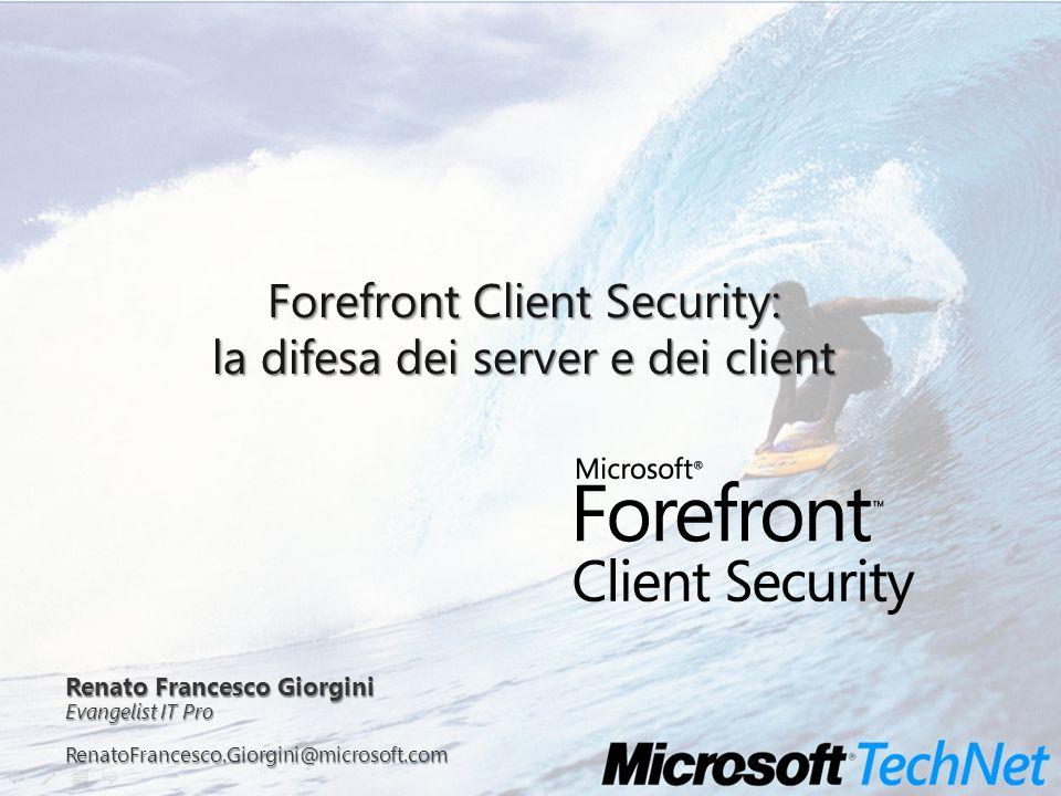 RenatoFrancesco.Giorgini@microsoft.com TechNet New Wave Tour 1 Server 3 Server