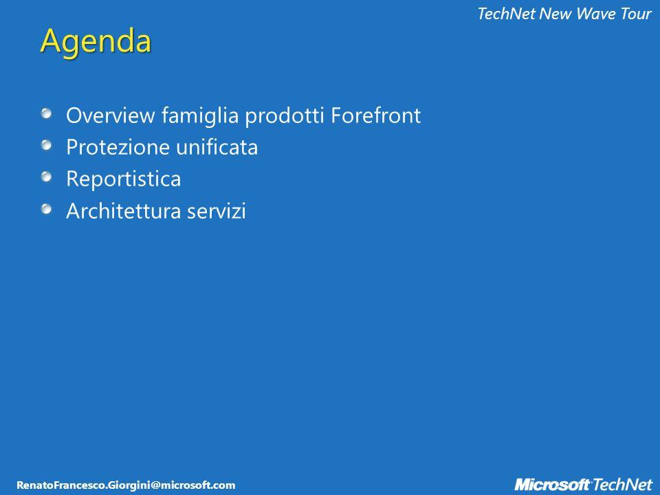 RenatoFrancesco.Giorgini@microsoft.com TechNet New Wave Tour 5 Server – shared SQL