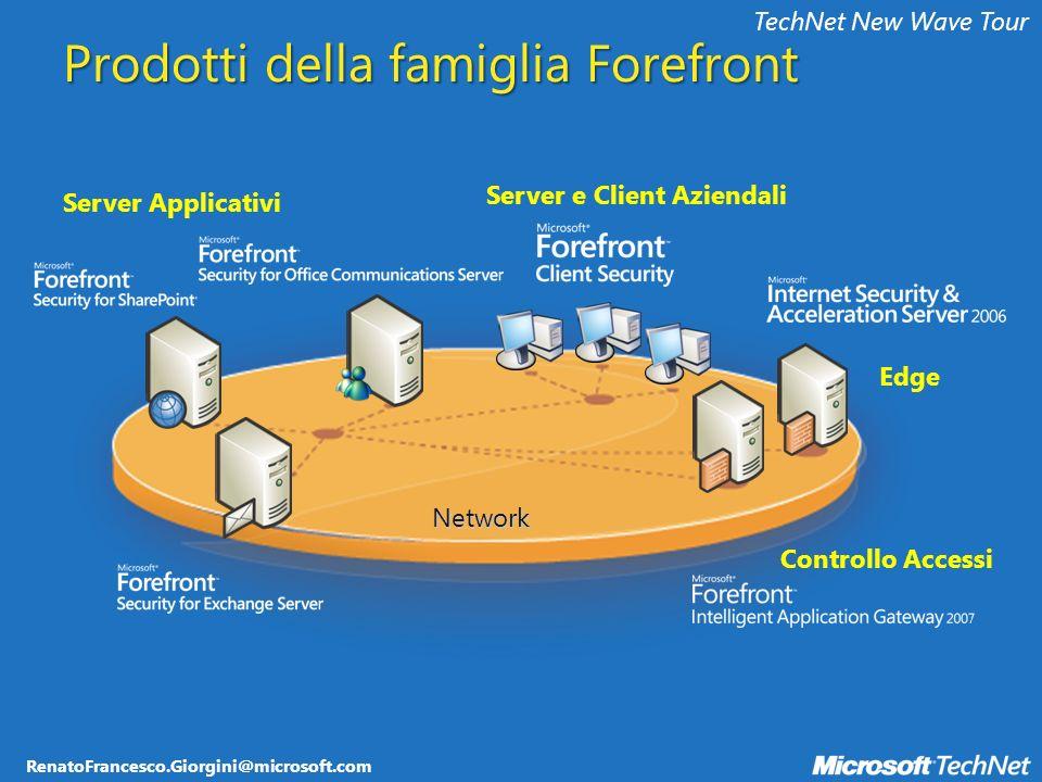 RenatoFrancesco.Giorgini@microsoft.com TechNet New Wave Tour WSUS Configurazione Agent