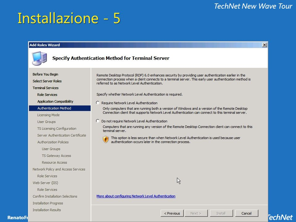 TechNet New Wave Tour Installazione - 5