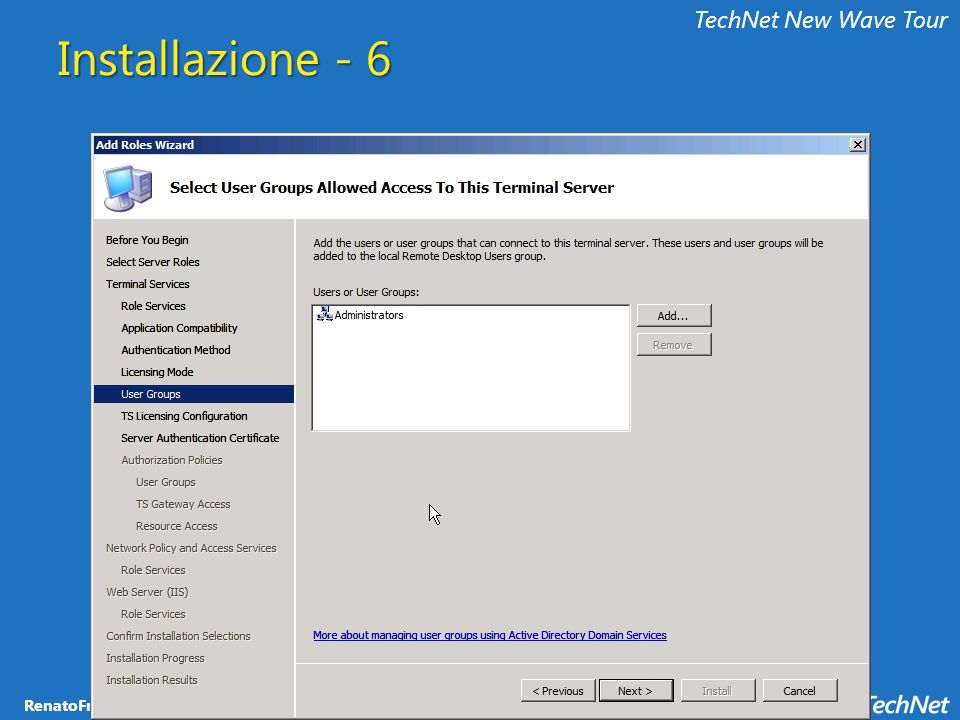 TechNet New Wave Tour Installazione - 6