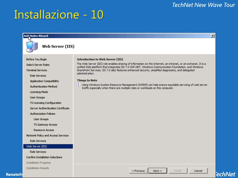 TechNet New Wave Tour Installazione - 10