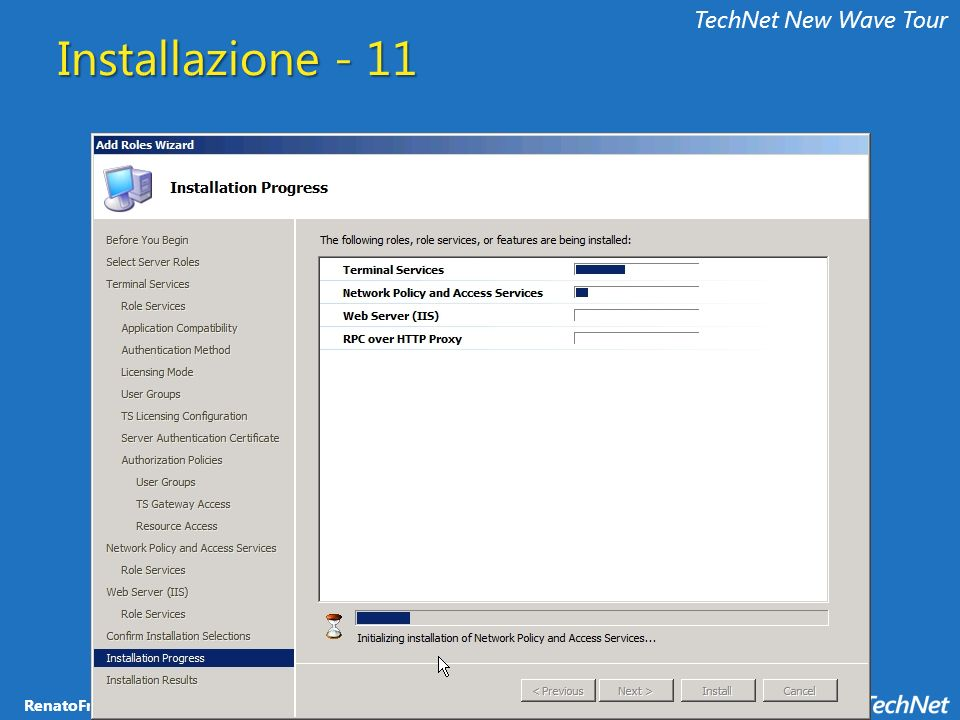 TechNet New Wave Tour Installazione - 11