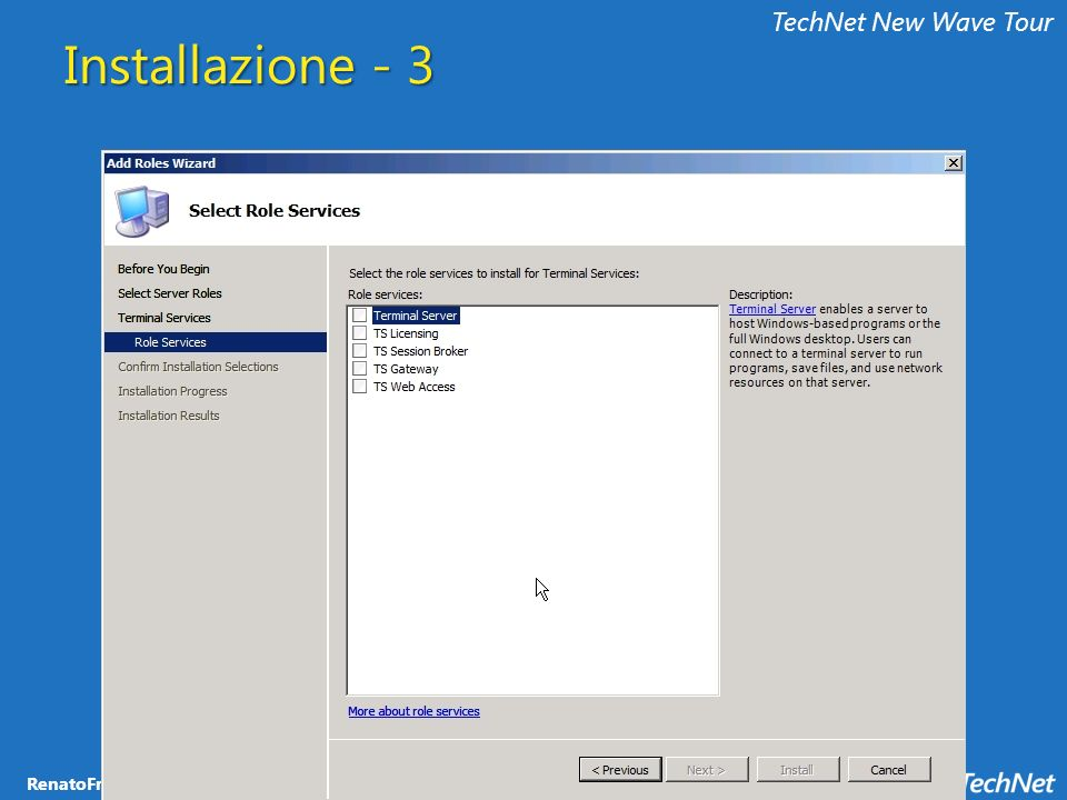 TechNet New Wave Tour Installazione - 3
