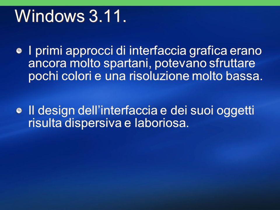 I primi approcci di interfaccia grafica erano ancora molto spartani, potevano sfruttare pochi colori e una risoluzione molto bassa. Il design dellinte