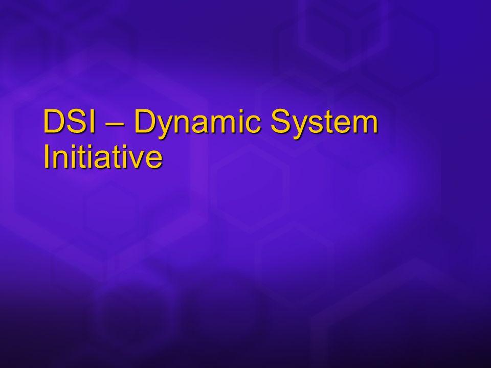 DSI – Dynamic System Initiative