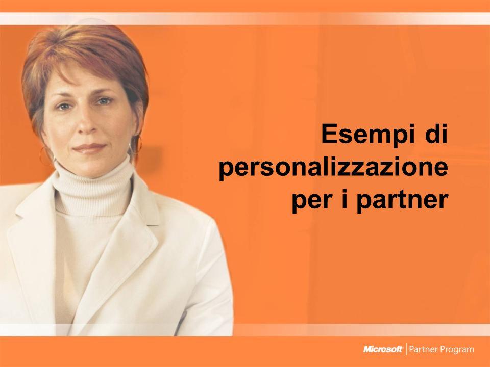 Esempi di personalizzazione per i partner