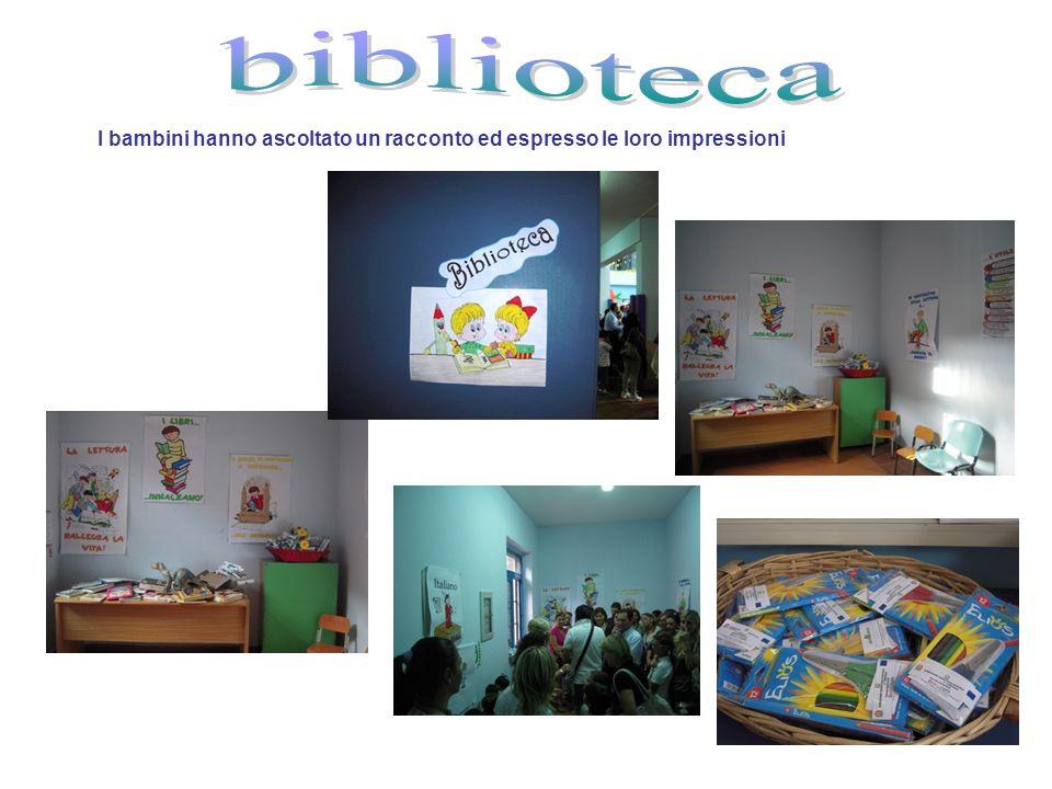 I bambini hanno ascoltato un racconto ed espresso le loro impressioni