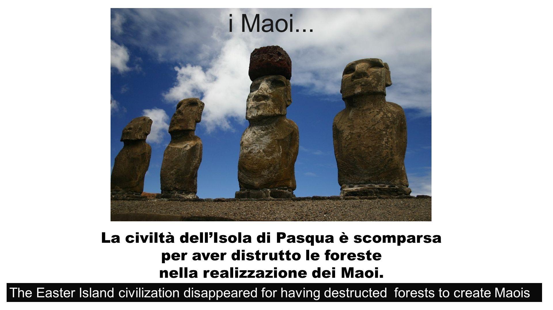 La civiltà dellIsola di Pasqua è scomparsa per aver distrutto le foreste nella realizzazione dei Maoi.